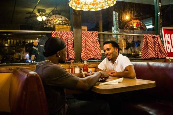Chiron and Kevin in a diner in Act III