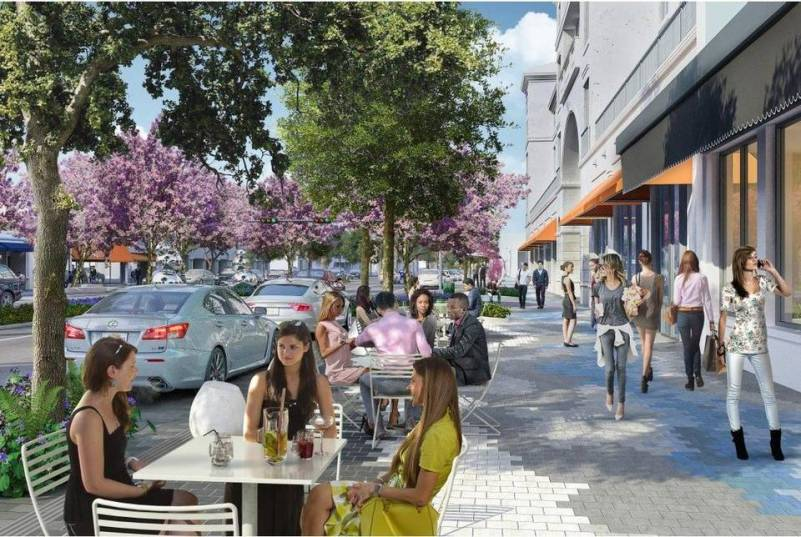 Rendering of Proposed Miracle Mile Project