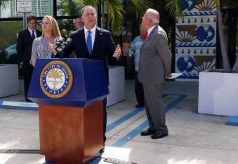 Mayor Phillip Levine at a press conference about AirBnB