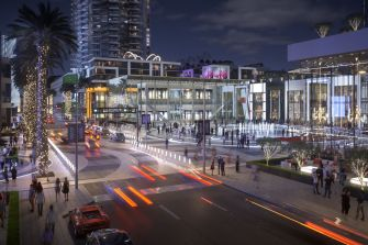Miami World Center creates a plaza off of one of the streets that crosses it.
