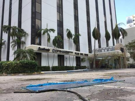 Brickell experienced a large storm surge, but its required first floor elevation left damage at a minimum.
