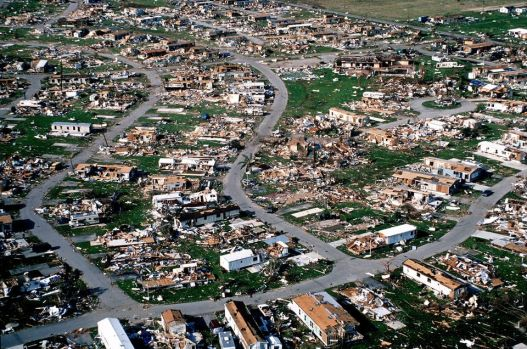 Hurricane Andrew damage in Homestead and Fl. City