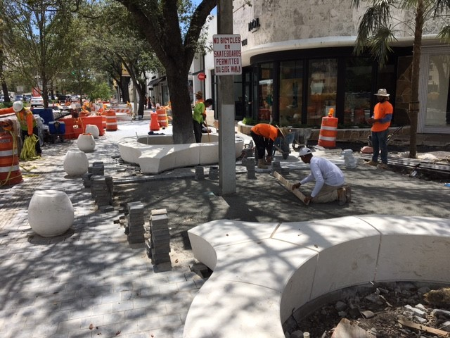 Construction in progress at Miracle Mile