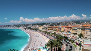 The Promenade d'Anglais in Nice