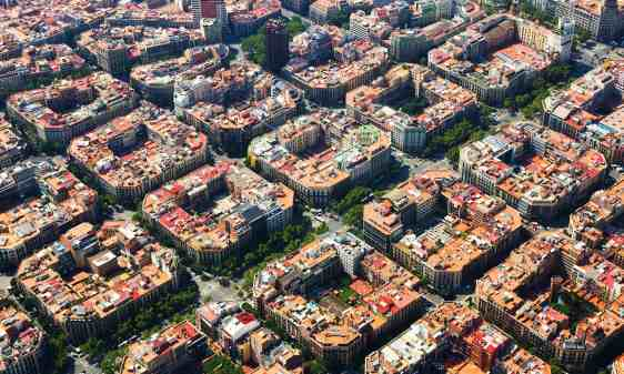 Current Aerial of Eixample