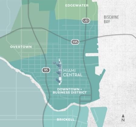 MiamiCentral Map
