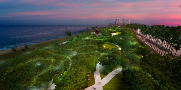 West 8 Proposal at the North Shore Open Space Park