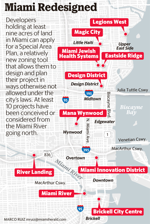 Map of SAP Proposed or Approved Projects