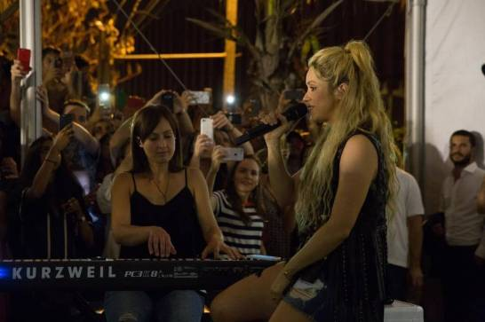 Shakira's Secret Concert at Wynwood Yard