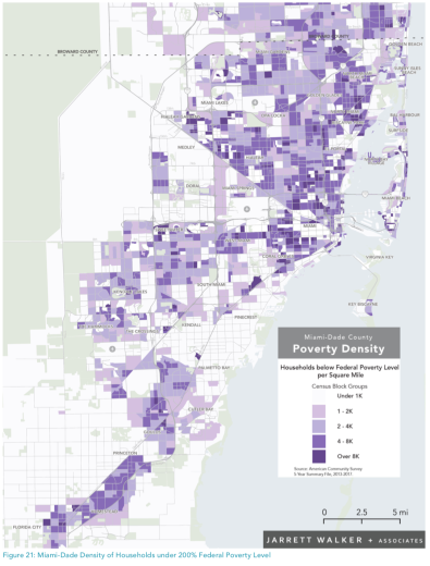 Households below the poverty rate