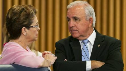 Commissioner Rebeca Sosa and Mayor Carlos Gimenez are both term limited.